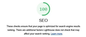 google lighthouse is used for seo analysis and testing